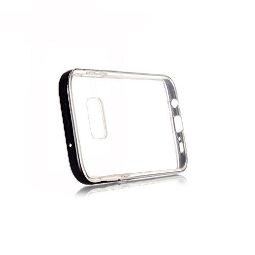 Voguecase® Pour Apple iPhone 6 Plus/6S Plus 5.5, 2 in 1 Hybride Flash Coque Au Cas De Appels Entrant LED Transparent Soft TPU Hard PC Etui Case Cover(pommetier 01)+ Gratuit stylet l'écran aléatoire un Transparent frontière-Noir