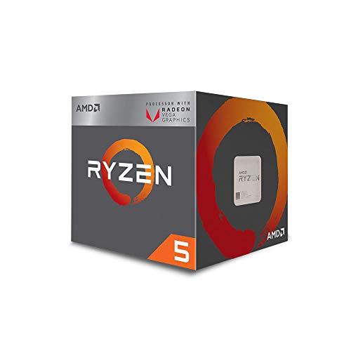 AMD Ryzen 5 3400G Upto 4.2GHz 4 Core 8 Threads AM4 Socket 6MB Cache with Radeon RX Vega 11 Graphics Desktop Processor & Wraith Spire Thermal Solution (YD3400C5FHBOX)