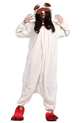 Pyjamas Schlafanzug Erwachsene Cosplay Kostüm Karneval Halloween Möpse