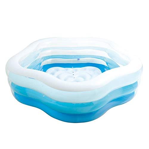 FGF Aufblasbare Badewanne Kinder Baby Klappschwimmbecken Planschbecken for Erwachsene Familienbecken Kinderspielbecken Aufblasbares Wasserballbecken 123 (Size : A)