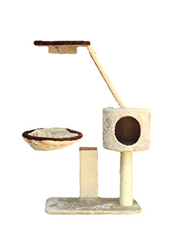 Silvio Design Katzen-Kletterwand Xena, B/L/H: 65/35/100 cm, beige