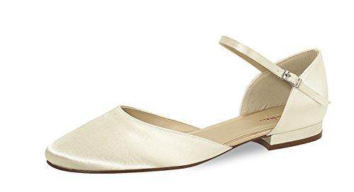 Elsa Coloured Shoes - Scarpe con cinturino alla caviglia Donna (Avorio)