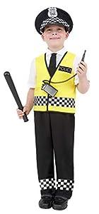 Smiffys Disfraz de chico policía, con top, pantalones, sombrero y set de radio, L - Edad 10-12 años