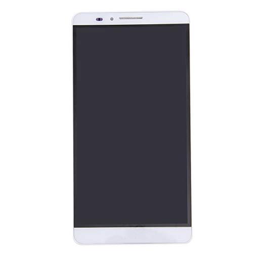 Bjhengxing Wander Bildschirm for Huawei Mate 7 LCD-Bildschirm und Digitizer gesamte Baugruppe mit Rahmen (schwarz) (Farbe : Weiß)