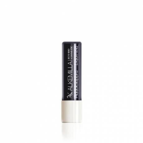 ALKEMILLA - Addolcilabbra Reglisse - Beurre hydratant pour les lèvres - Certifié Bio - Avec Huile de Noisettes,de Tournesol et de Ricin - Apaisant et Hydratant - Produit en Italie - 5 ml