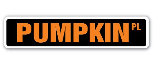 SignMission Kürbis Street Schild Patch Halloween Squash Farm Farmer-| | 45,7cm Breit