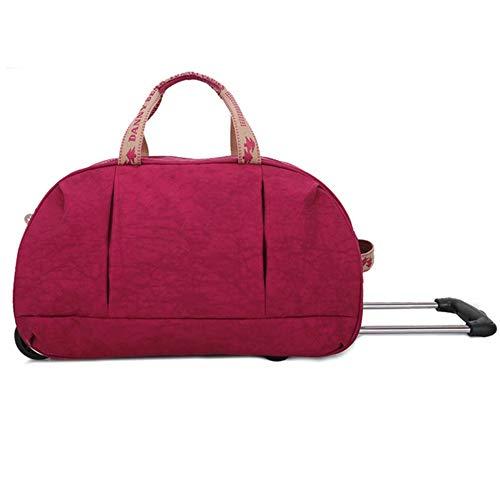 Grandi valigie a ruote superleggeri valigia trolley da viaggio di qualità zhangaizhen (colore : rosa rossa)