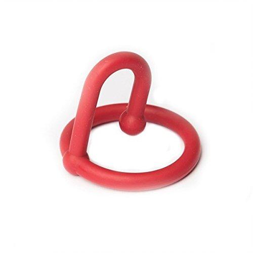 Sport Fucker Silicone Cum Stopper - Eichelring mit Spermastopper, Durchmesser 35 mm Ring - rot, 1 Stück