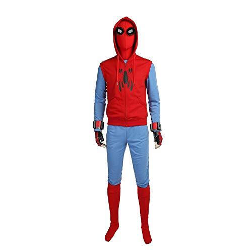 ecoming - Parker (hausgemachter Anzug) Männliches Cosplay-Kostüm - Tom Holland - Rot - Large ()
