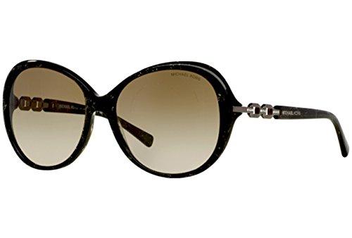 Michael Kors Damen Sonnenbrille MK2008B Andorra, Grün (Green Sparkle 303913), One Size (Herstellergröße: 58)