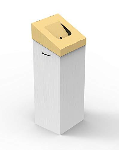 Papelera DE Carton RERECICLAR.Tapa Amarilla PLASTICO