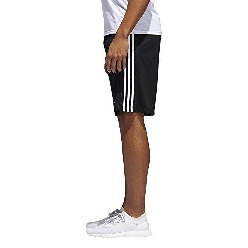 Adidas–Pantaloni da allenamento designed-2-move 3Stripe shorts Black/White