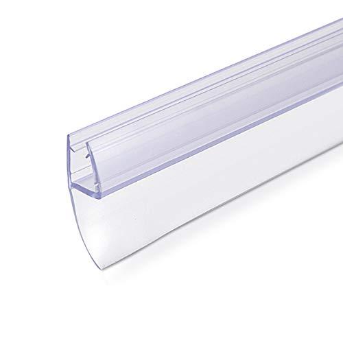 31SWHhYQiBL - Navaris junta de recambio para ducha - Repuesto para puerta de vidrio con grosor de 6MM - Sello protector contra salpicaduras 180° de 80CM de largo