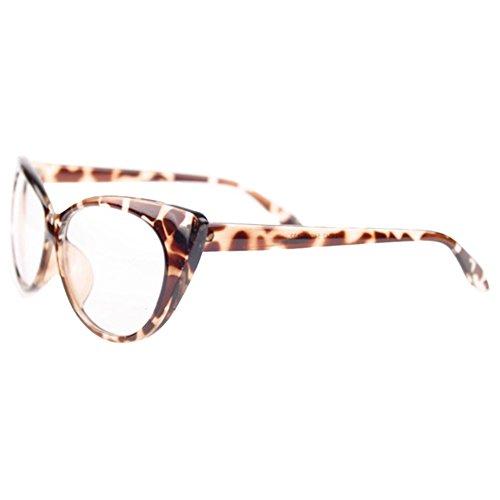 Bluelans Klarglas Cateye Brille Damen Vintage Damenbrillen in verschiedenen Farben (Leopard)