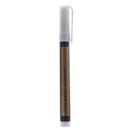 Mentin Metallic Permanent Paint Marker Stift für DIY Fotoalbum Kinder Schulbedarf (weiß) -