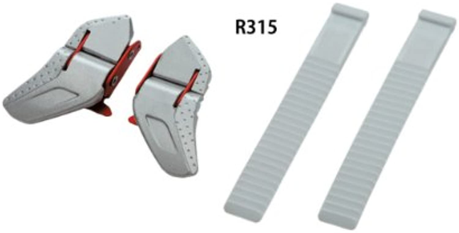R315 Buckle and strap set   silver / red