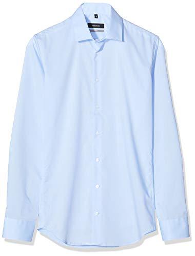 Seidensticker Herren X-Slim Fit Seidensticker Herren Business Hemd X-Slim Fit - Bügelfreies, Sehr Schmales Hemd mit Kent-kragen - Langarm , Blau (Blau 12) , 44