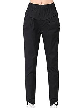 Las Mujeres Verano Casual Pantalones Pantalones Cintura Elastica Tobillo Plus Size