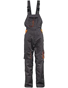 [Patrocinado]Stenso Desman® - Pantalones con Peto para Hombre - Gris/Naranja