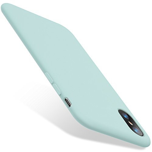 TORRAS iPhone X Hülle/iPhone XS Hülle Silikon Luxusausgabe [Anti-Slip] Dünn iPhone X Case/iPhone XS Case mit Soft Microfaser Tuch Futter Bumper HandyHülle für iPhone X/XS - Schwarz