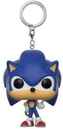 Funko 20289 Sonic with Ring The Hedgehog S2 POP Schlüsselanhänger Figur, Multi, 4 cm