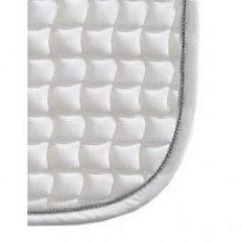Eskadron Schabracke Cotton mit Farbiger Biese, weiß/Silber, Dressur