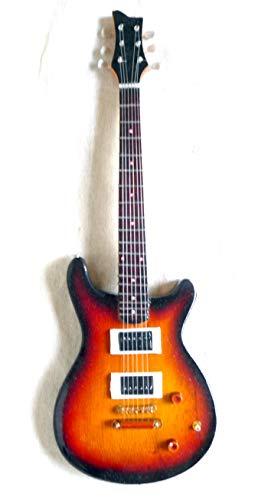 175 Holz (Miniatur Gitarre Deko Gitarre Guitar Gibson ES-175 Handarbeit aus Holz #126)