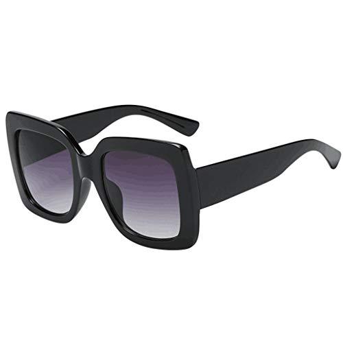Oversized Sonnenbrille Polarisiert für Damen/Dorical Mode Übergroße Square Sonnenbrille Vintage Retro Brille Damenbrillen Frauen Women Patchwork Sunglasses Travel Eyewear(A)
