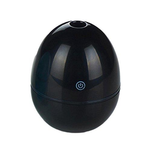 Ätherischer Öl Diffusor, HGFKJ 50ML Ei geformt Ultraschall Luftbefeuchter USB Portable Zerstäuber für Office Auto und Zimmer (SCHWARZ) (Ball Zimmer Essentials)