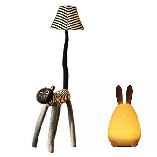 Stehlampe, Cartoon Kreative Niedlichen Stofftier Licht für Schlafzimmer, Wohnzimmer Glühbirne Enthalten Dekoration Stehleuchte 0710LDD (Color : Floor lamps+Table lamps)