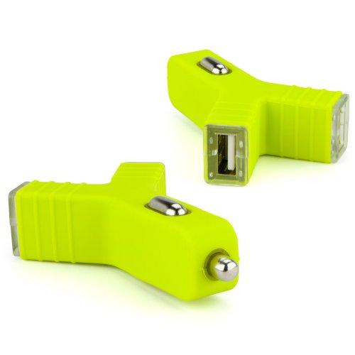 BoxWave u-n-me USB Dual-Port SPECTRALINK 8441KFZ-Ladegerät, Universal 2Port USB KFZ-Ladegerät w/10W Gesamtleistung (2Ampere (5Volt) (grün) Spectralink Dual Charger