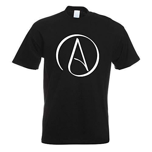 Kiwistar Atheismus - Atheist T-Shirt Motiv Bedruckt Funshirt Design Print