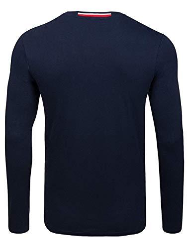 U.S. POLO ASSN. Shirt Sweatshirt Herren Langarmshirt Longsleeve Blau 168 42963 51884 177, Größenauswahl:L (Assn Polo Polo Us)