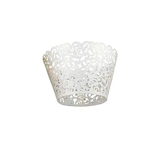 YILONG 120PCS Papier Hohle Lace Floral Kuchen-Muffin-Verpackungs-Verpackungs-Kasten-Kuchen Hohle Papier-Kuchen-Schalen