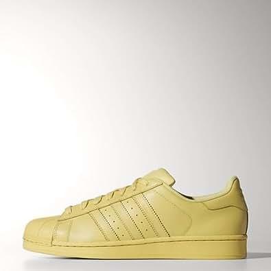adidas Originals Men's Superstar Supercolor Pack Black Leather Sneakers - 11 UK