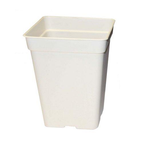 POT blanc 7 litres - 20x20x27,5cm