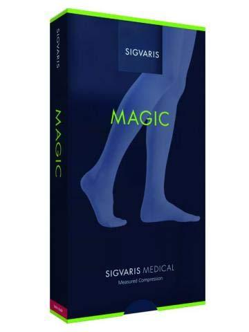 Sigvaris Compression Stockings Sigvaris Magic 2AG Stockings Short Studded Adhesive Border One Size savanna Size:M