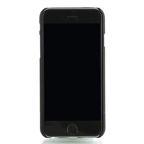"RE:CRON® Iphone 6 (4,7"") Case Hülle Cover Metallic 3D Spray-Effekt blau - schwarz Lila - Schwarz"