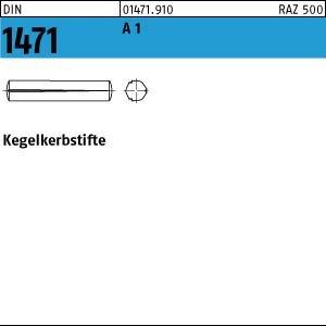 100 Kegelkerbstifte DIN 1471 1.4305 3x20 rostfrei A1 Niro Edelstahl