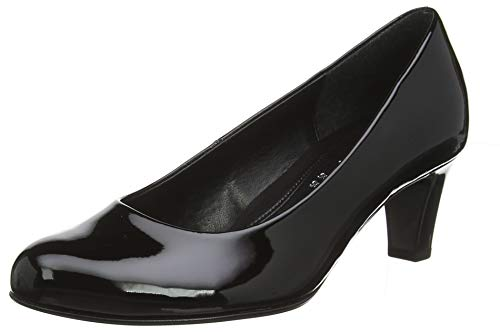 Gabor Shoes Damen Basic Pumps, Schwarz (+Absatz) 77, 41 EU - Pumps Leder