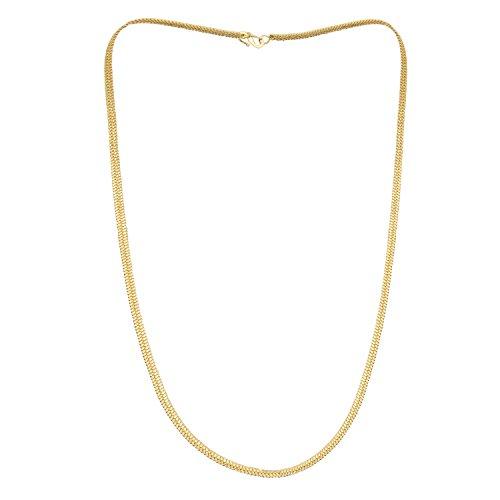 Shining Jewel 24K High Gold Plated Celebrity Inspired Flat Gold Chain for Men (SJ_2114)