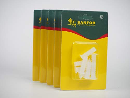 Sanfor 80338 Caja 25 Blíster Taco blanco 9mm B X11