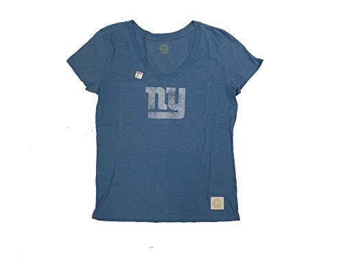 New York Giants Blue Haze Womens Retro V-Neck T-Shirt XX-Large -