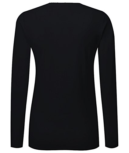 LA - Los Angeles - California - Damen Langarmshirt Schwarz