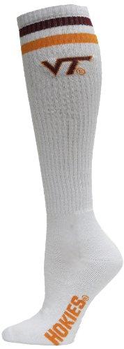 Donegal Bay NCAA Tube Socks, Jungen Damen Mädchen Unisex Herren, Maroon/Burnt Orange/White -