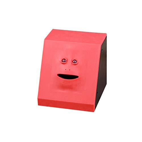 DEjasnyfall Geld Essen Face Box Nette Facebank Piggy Münzen Bank Lustige Geld Münze Sparkasse Kinder Spielzeug Geschenk Dekoration ~ Panel rot -