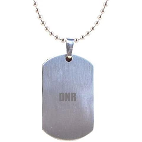 DNR grabado alerta médica chapa identificativa colgante en bolsa de regalo