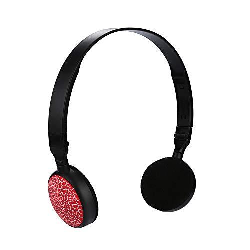 SamMoSon 2019 Auriculares Bluetooth Inalambricos Estereo Bluetooth,Los Niños del Puerto De 3.5mm Atan Los Auriculares En Los Auriculares Estéreo Plegables del Oído para Earphon