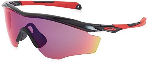 Oakley Herren M2 Frame XL Sonnenbrille, Farbe des Gestells: POLISHED BLACK Linsenfarbe: Prizm Road, 40