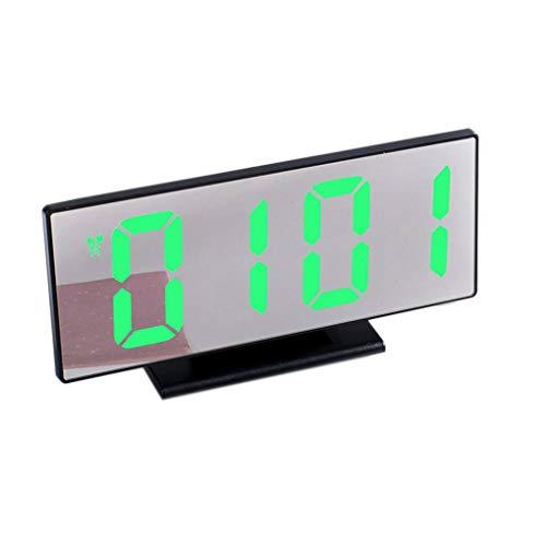 Bomcomi Digital-Wecker-LED-Spiegel-Uhr-Multifunktionsdisplay Nacht LCD Leuchttisch Desktop-24.12-Stunden-System